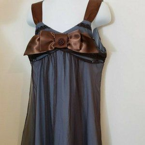Bonnie Jean Girls Size 8 Blue And Brown Dress